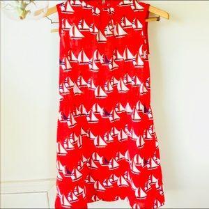 Red sailboat dress!